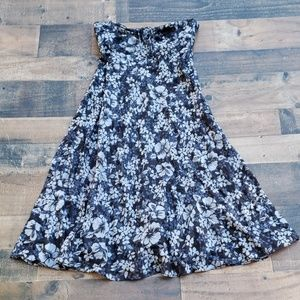 JCrew Strapless Floral Dress Sz 2